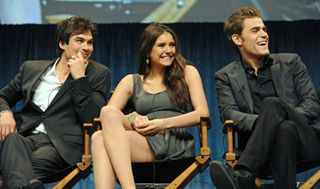Ian Somerhalder, Nina Dobrev and Paul Wesley at PaleyFest